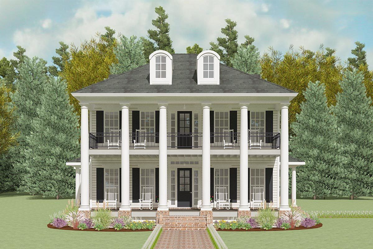 Photo of Plan 130018LLS: Exclusive Mini-Plantation House Plan