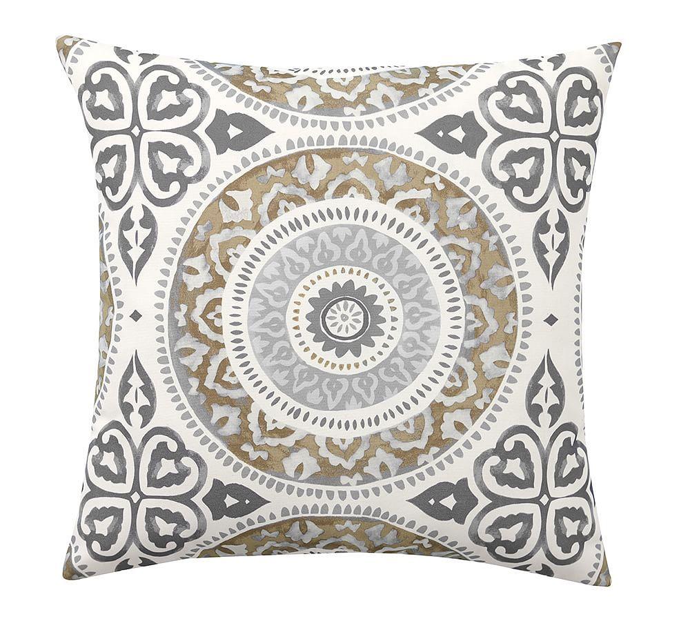 Leona Medallion Indoor Outdoor Pillow 20 Quot Neutral Multi