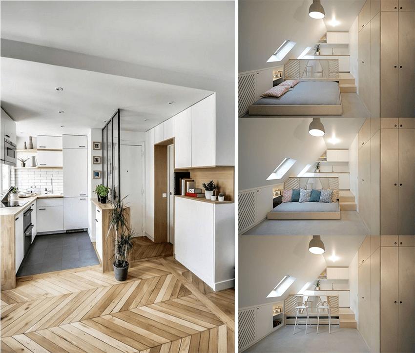 10 id es pour optimiser l am nagement d un studio partie 2 2 escale design escale design. Black Bedroom Furniture Sets. Home Design Ideas