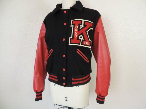 1960 S Letterman S School Jacket Wool Red Black K School Jacket Jackets Black And Red