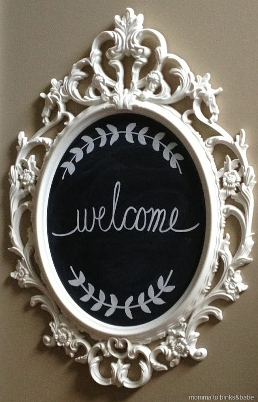 Ikea ung drill frame to chalkboard phil matt wedding for Ung drill mirror