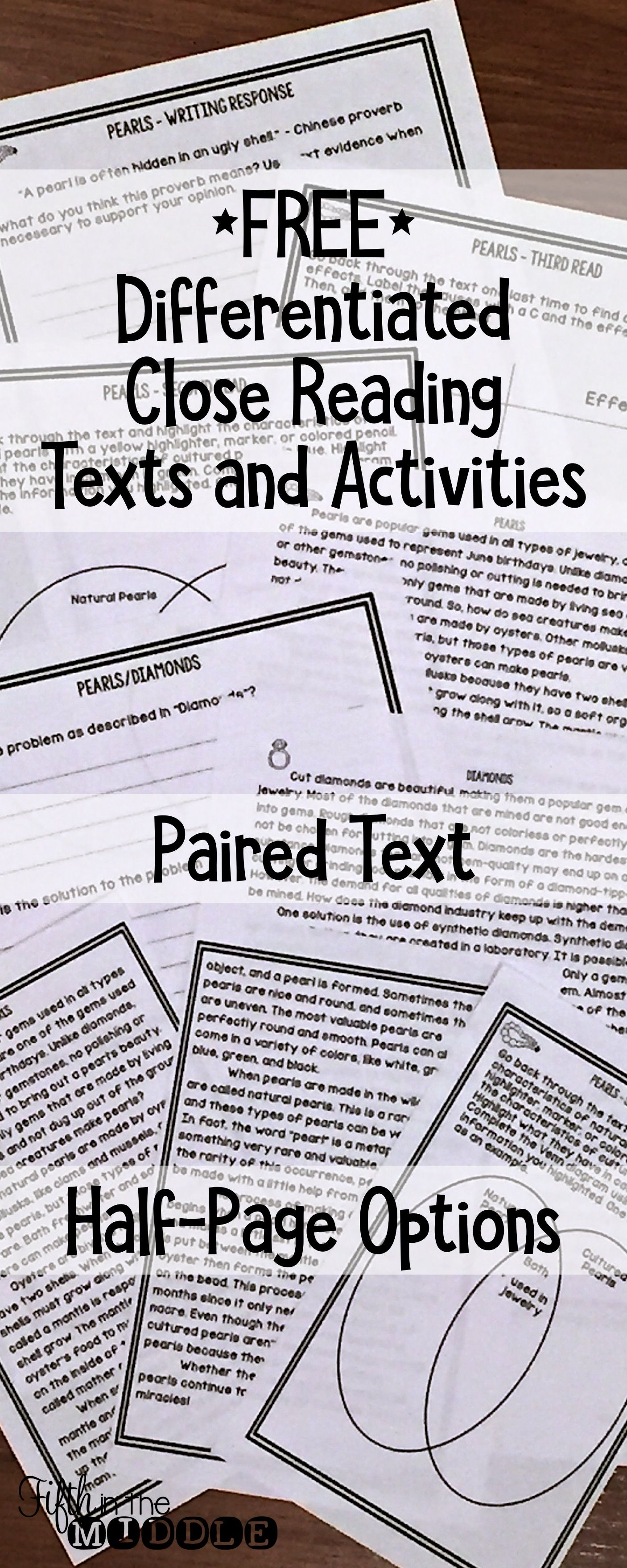 small resolution of Nonfiction Close Reading Comprehension Passage and Questions - Pearl  Freebie   Reading comprehension passages