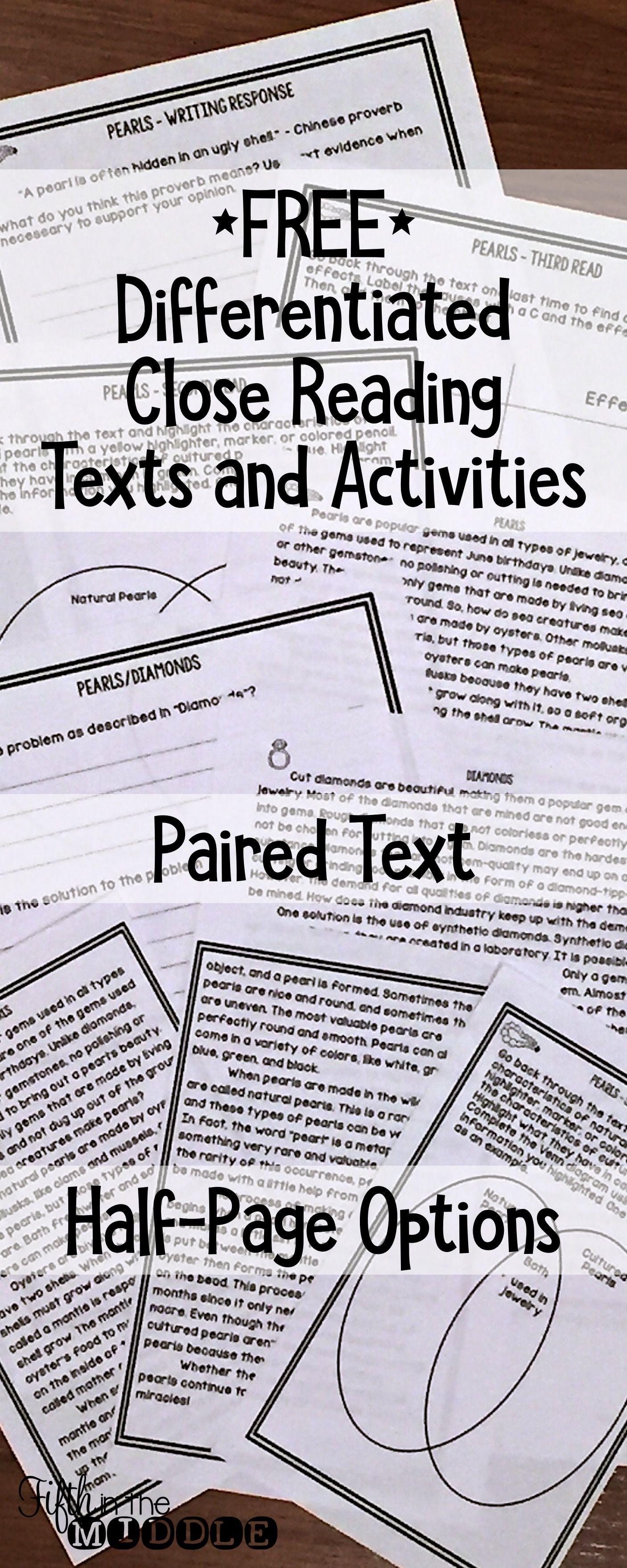 Close Reading Worksheet