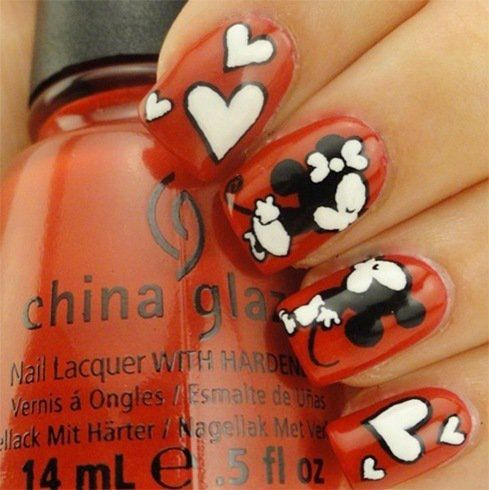 Fantabulous kiss nail art must for valentines day kiss nails fantabulous kiss nail art must for valentines day mickey nailsminnie prinsesfo Image collections