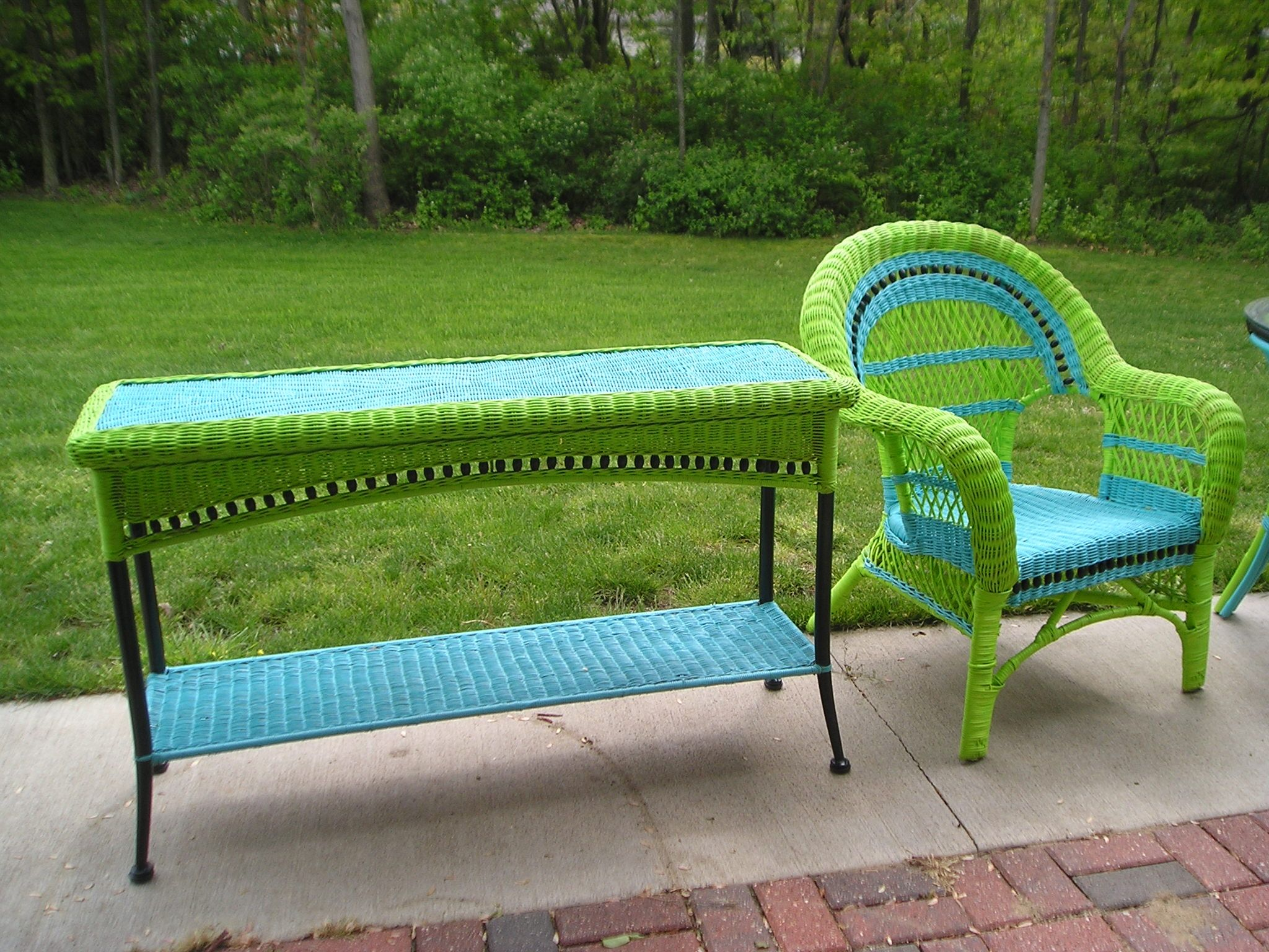 Redone Wicker Furniture - Love Colors Upcycled