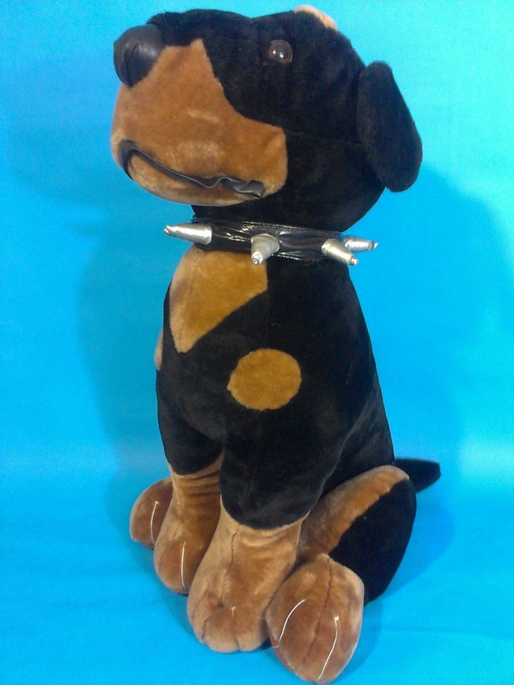 JUMBO Plush ROTTWEILER Puppy Dog GIANT 2' Foot EXCLUSIVE