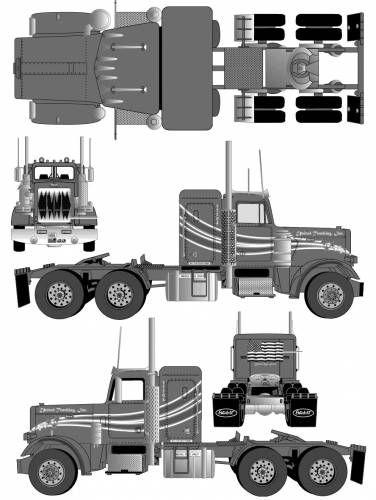 Peterbilt 359 tractor blueprint pinterest camiones grandes peterbilt 359 tractor malvernweather Image collections