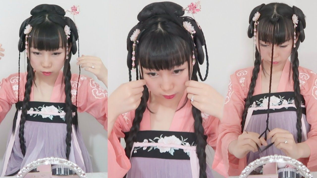 How to do Traditional Chinese Princess Hairstyle In Easy Way 汉服/古风发型教程 in 2019 | Princess ...