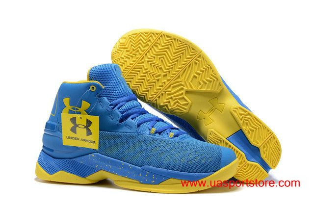 20f014379ff 2017 New Under Armour Curry 3.5 Royal Blue Yellow Dots Men s UA Basketball  Shoes  84.00