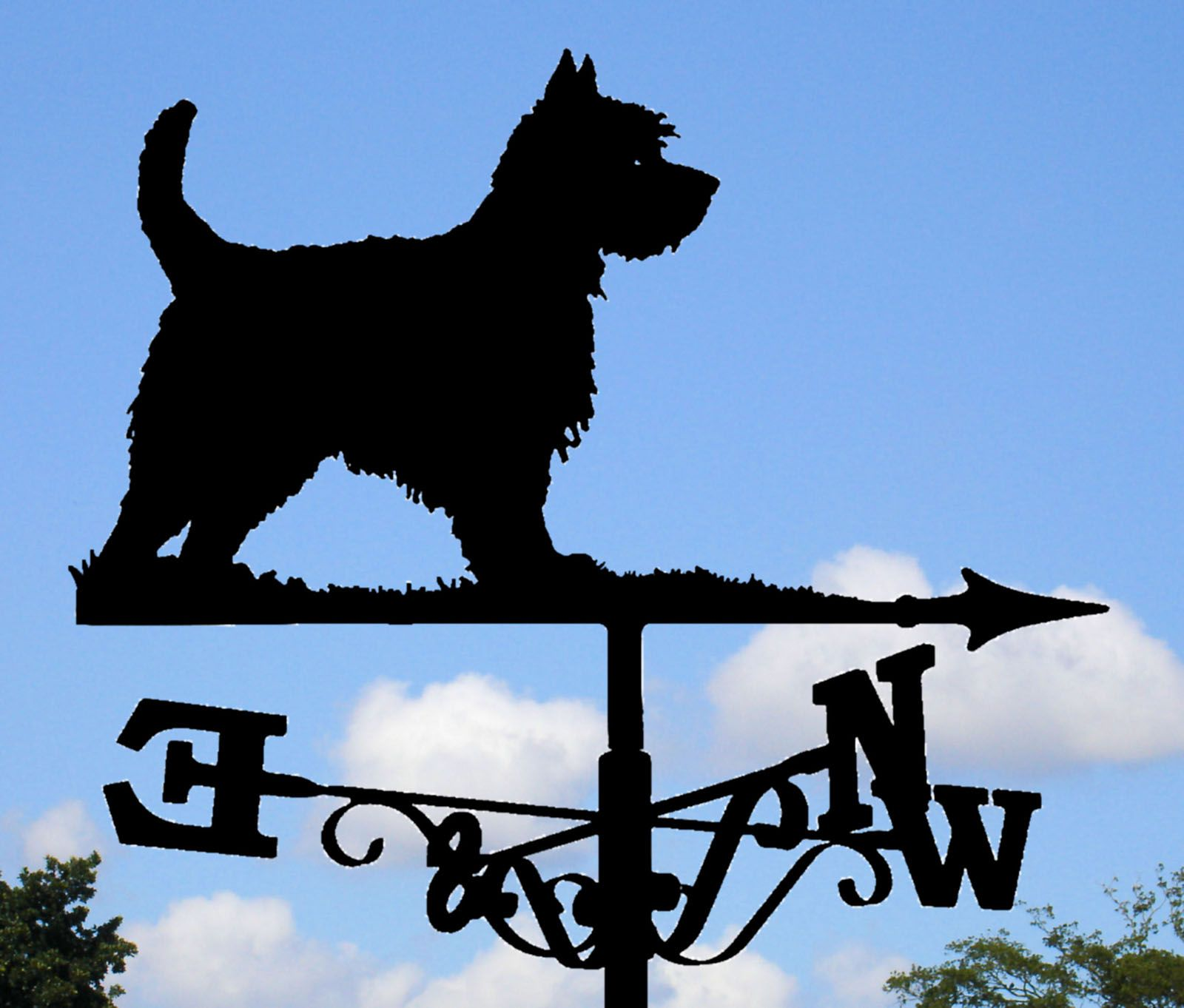 Weathervane Westie weathervane 2 ft. width. Click to see