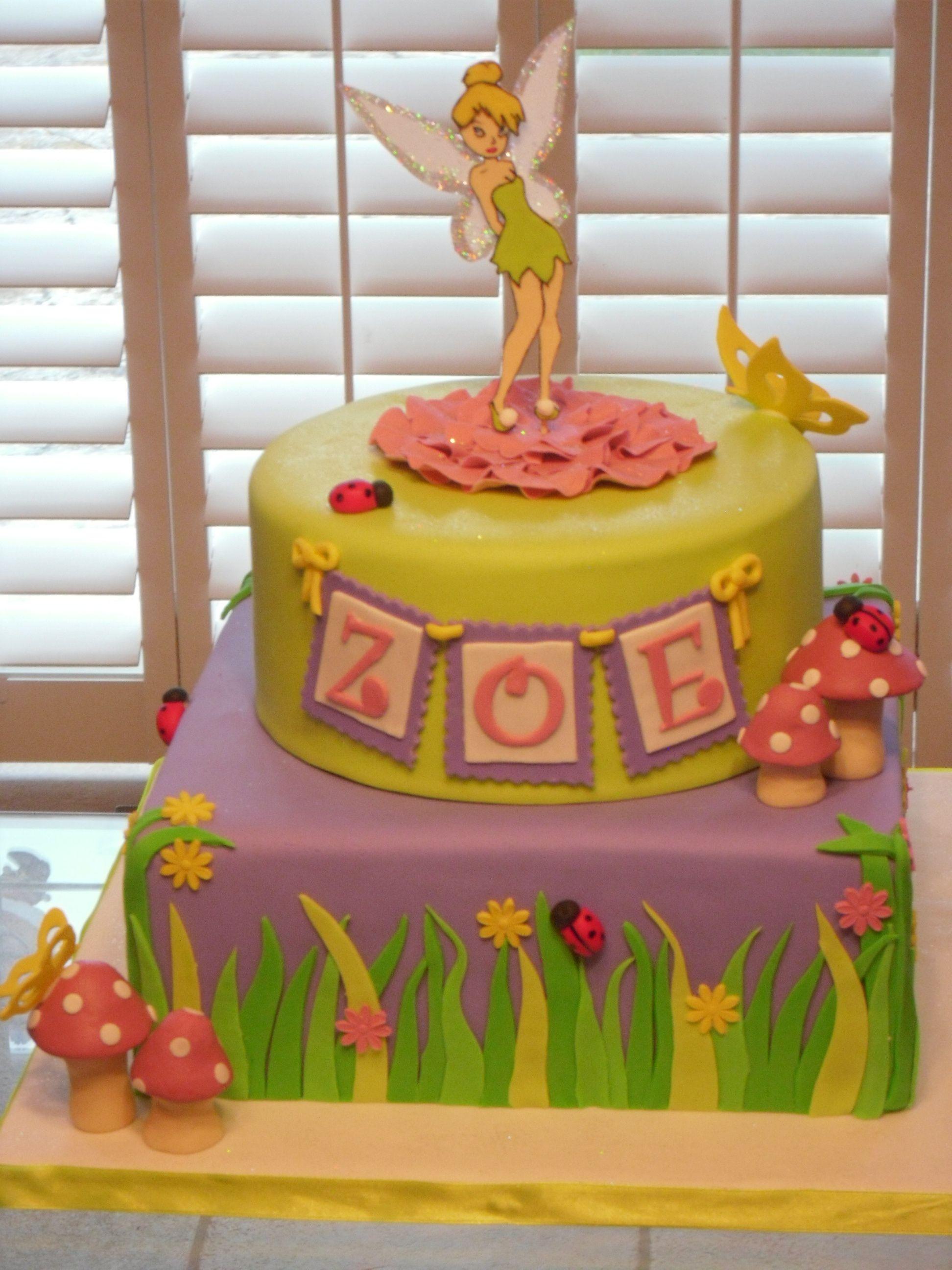 Tinkerbell Cake For Grayces 1st Birthday Cakes Of Art Pinterest