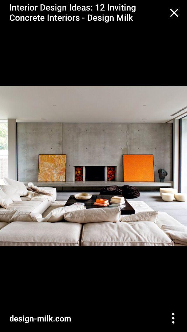 Pin 6 Concrete Panel Wall With Exposed Studs This Living Room Feature Wall With In Concrete Interiors Interior Architecture Design Australian Interior Design