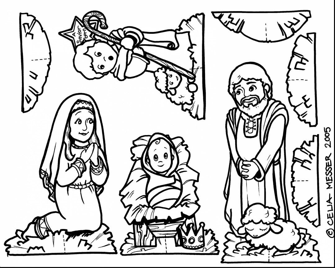 Nativity Coloring Pages | Jesus coloring pages, Nativity ...