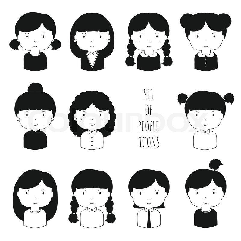 illustration girl faces - Sök på Google