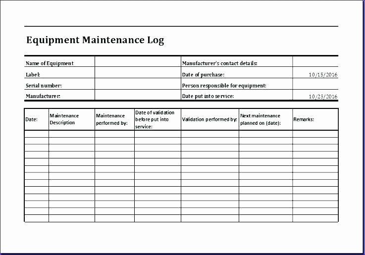 Facility maintenance checklist template new facility