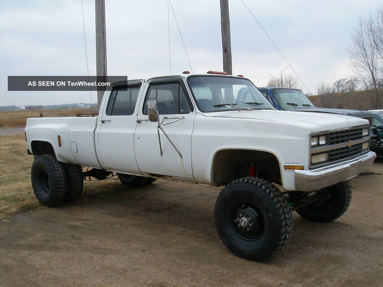 Chevy lifted dually huge 1977 lifted 1 ton chevy crew cab dually 4x4 long box