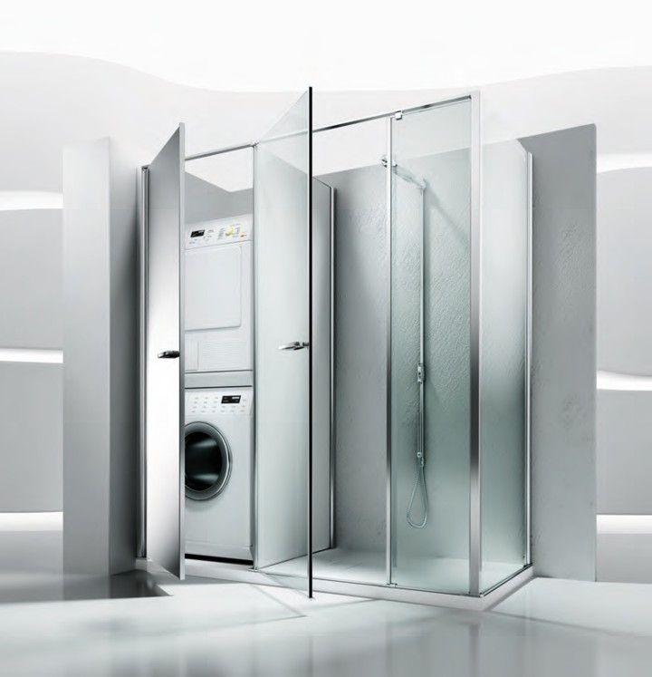 Da vasca a doccia con lavatrice 720 747 - Porta accappatoio da doccia ...