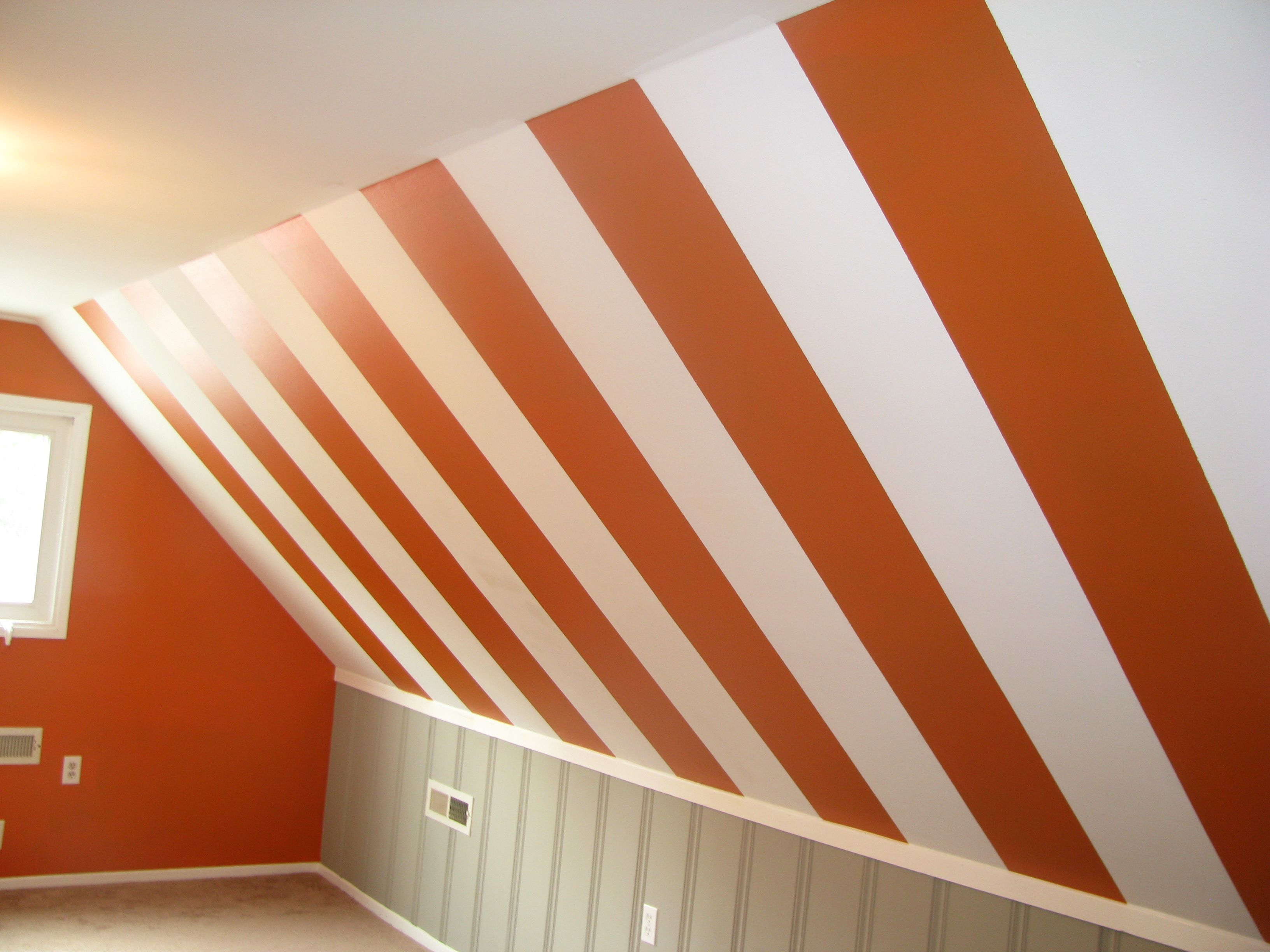 Circus tent stripes- slanted ceiling | Kid's Space ...