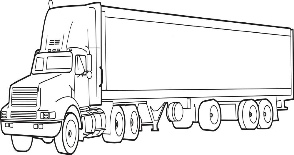 40 Free Printable Truck Coloring Pages Download (With