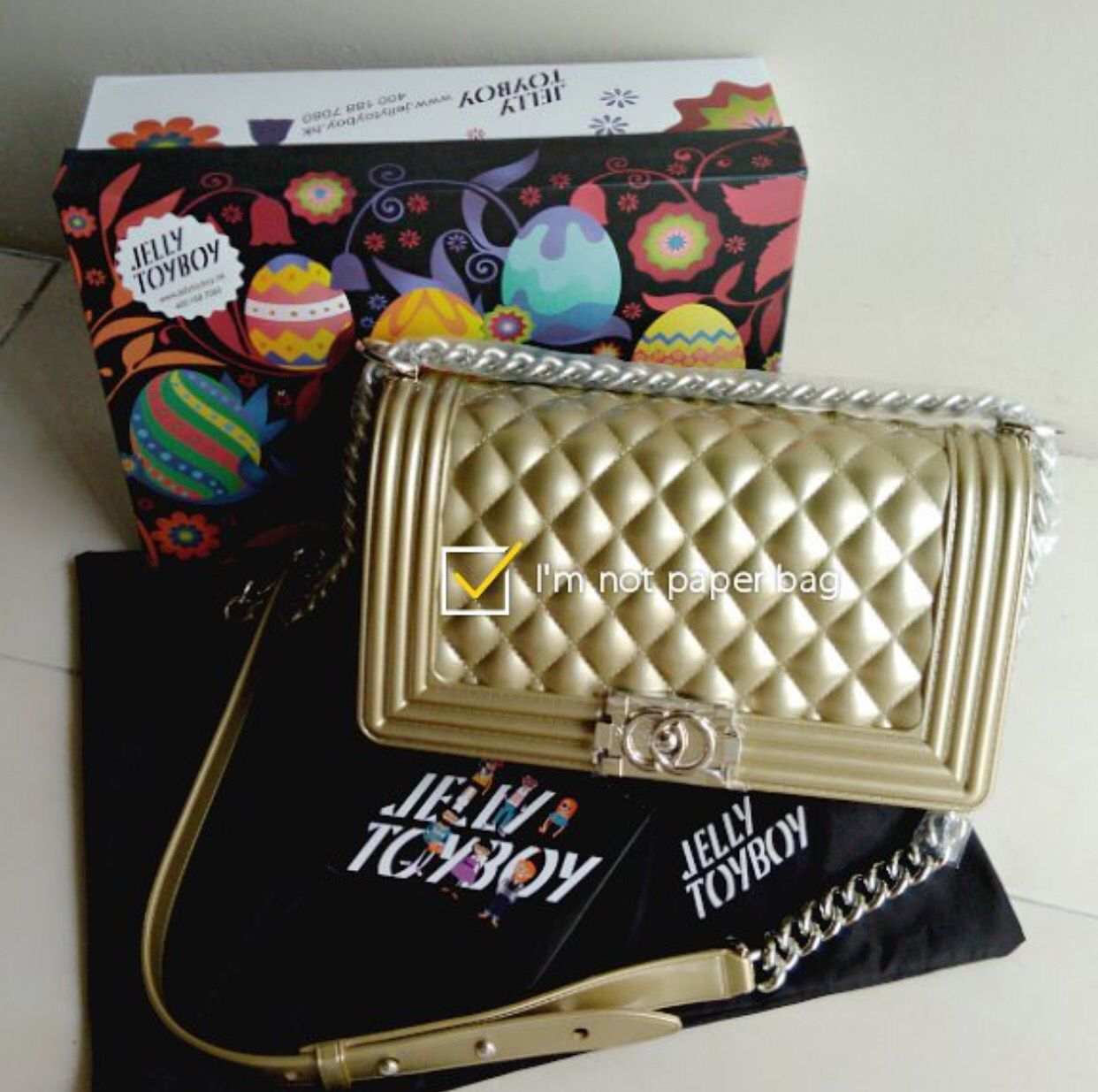 f4971e83133e Jelly toyboy chance champagne gold in silver Jelly, Chanel Boy Bag,  Champagne, Handbags
