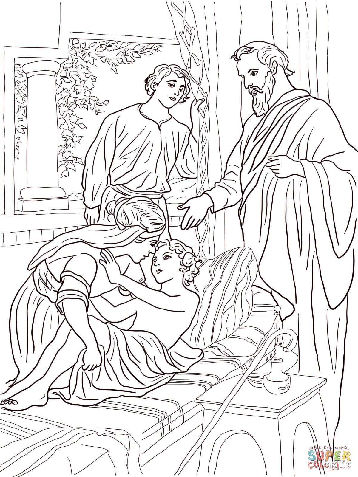 Elisha And The Shunammite Woman Coloring Page Free
