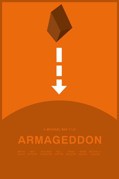 Armageddon 1998 Minimal Movie Poster By Foursquare