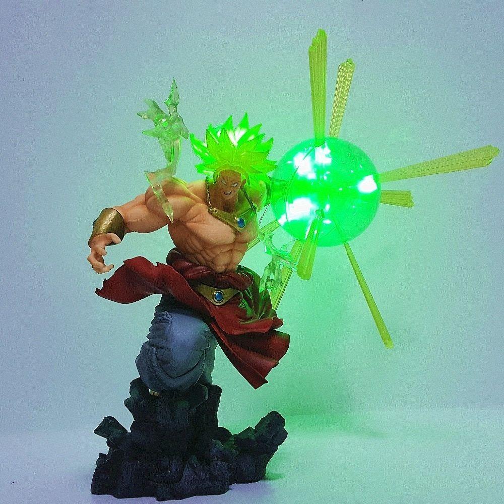 Dragon Ball Z Action Figure Broly Super Saiyan Led Power