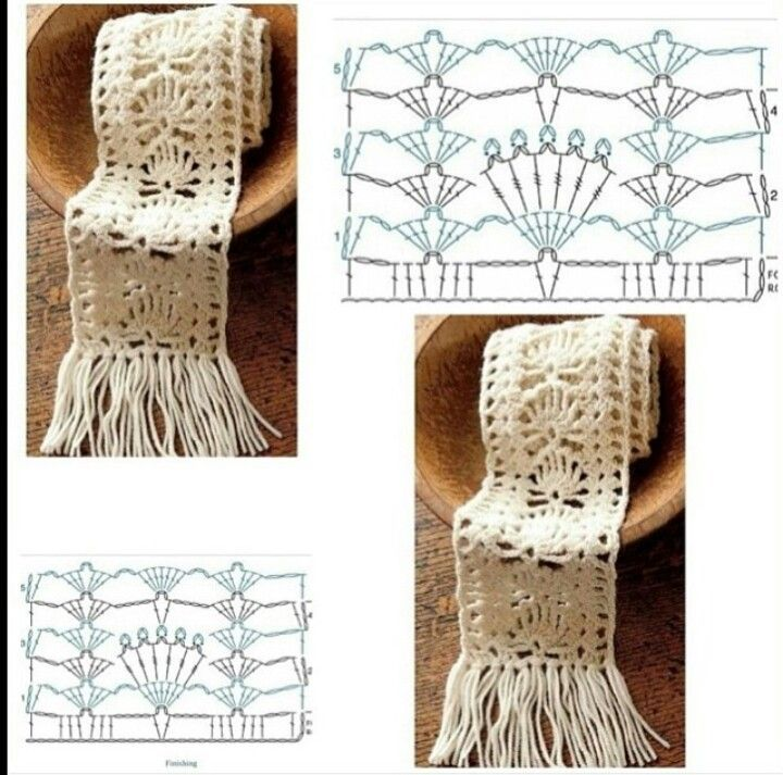 sjaal met diagram | crochet scarfs hats gloves poncho's ... crochet stitch diagrams diagrams crochet gloves #1