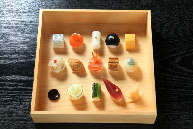 Tiny tiny sushi. Mametora, restaurant in Kyoto
