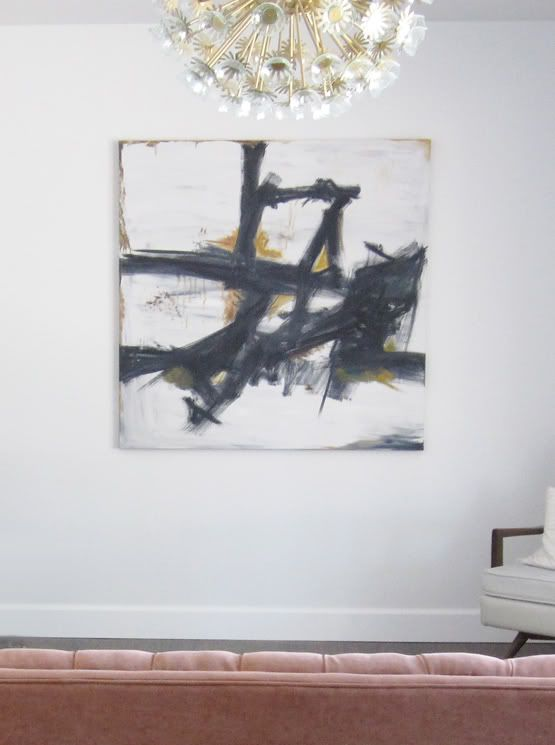 Franz kline inspired dit canvas art from little green notebook diy abstract art