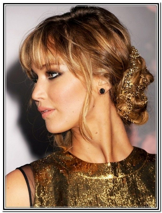 Mother Of The Bride Updos With Bangs Hair Style New Fashion