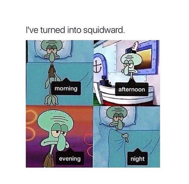 Squidward Tentacles Quotes to Use as Instagram Captions |Funny Squidward Pictures With Captions