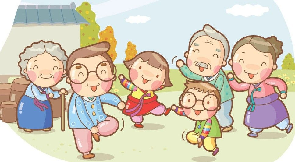 Free Cartoon Happy Family Illustration Vector Cartoon Design