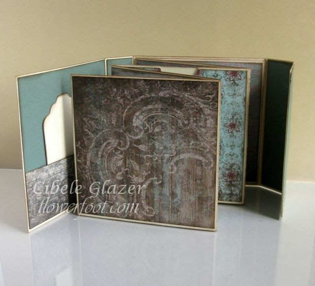 "Flower Foot Designs: 4"" x 4"" Accordion Mini Album (Video Tutorial)"