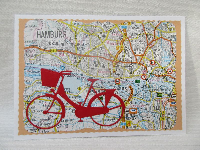 gutscheine originelle karte das rote fahrrad in hamburg ein designerst ck von sf design. Black Bedroom Furniture Sets. Home Design Ideas