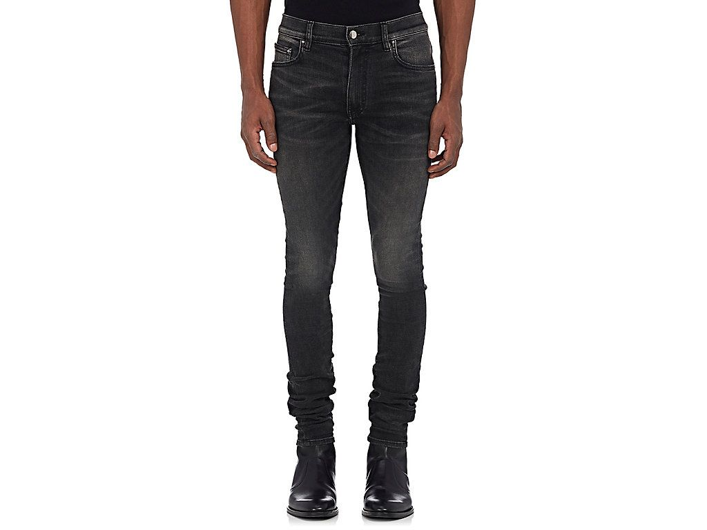 Stack slim jeans dark gray slim jeans