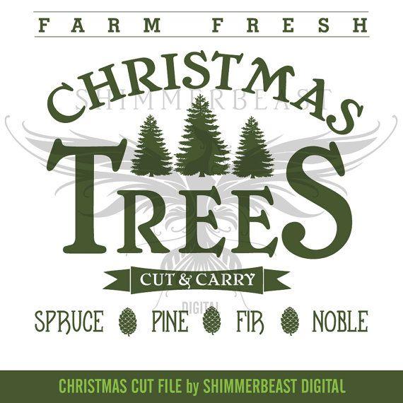 Christmas Tree Farm Logo.Christmas Svg Cut File Farm Fresh Christmas Trees