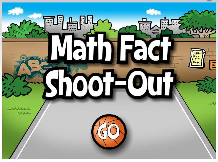 Online Game Math Fact ShootOut Math facts, Math fact