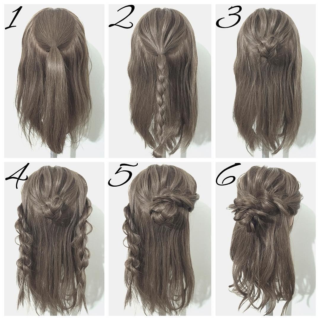 冬のダウンヘアは編み込みu三つ編みで垢抜けるお洒落アレンジ選
