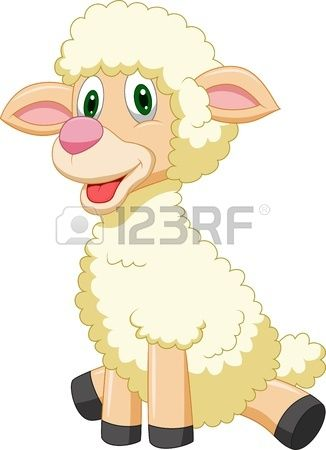 Sheep sitting. Stock vector animals clipart