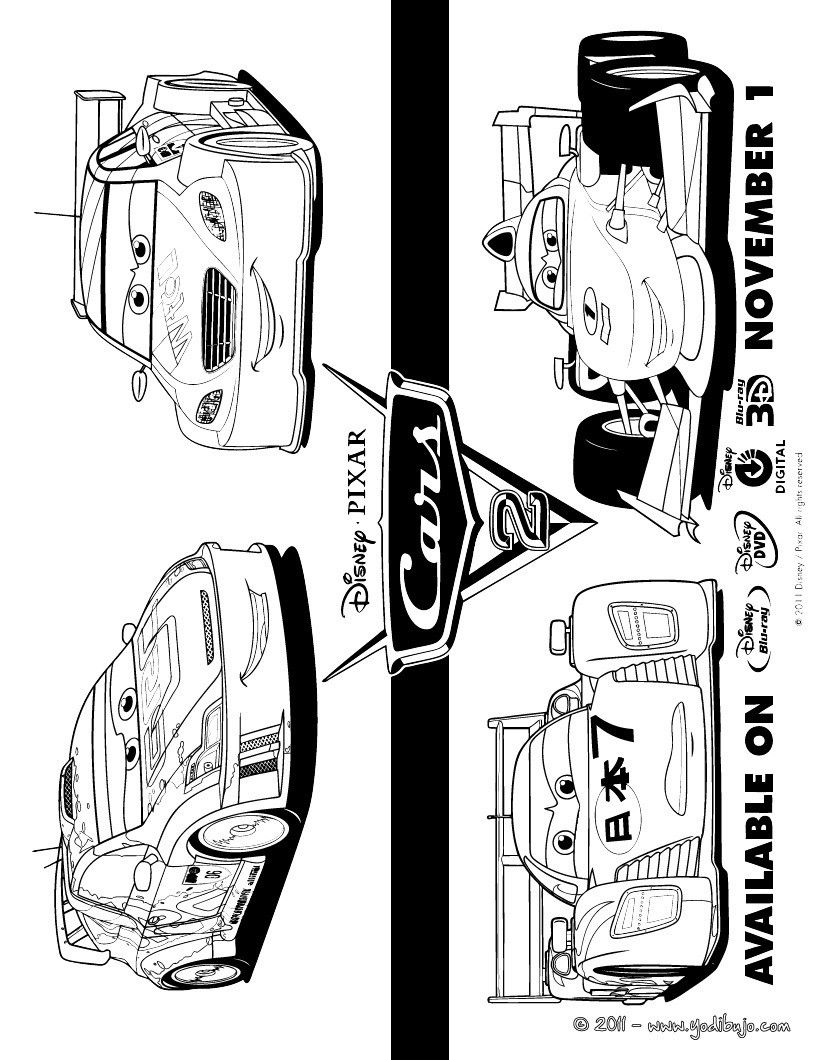 Cars 2 Para Colorear Bautista Pinterest Template