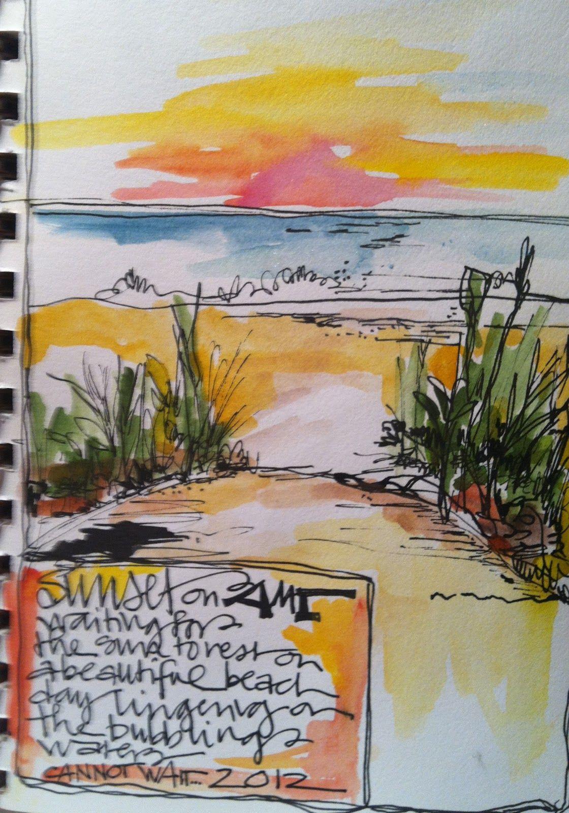Whimspirations Doodle 365 Watercolor Art Journal Art