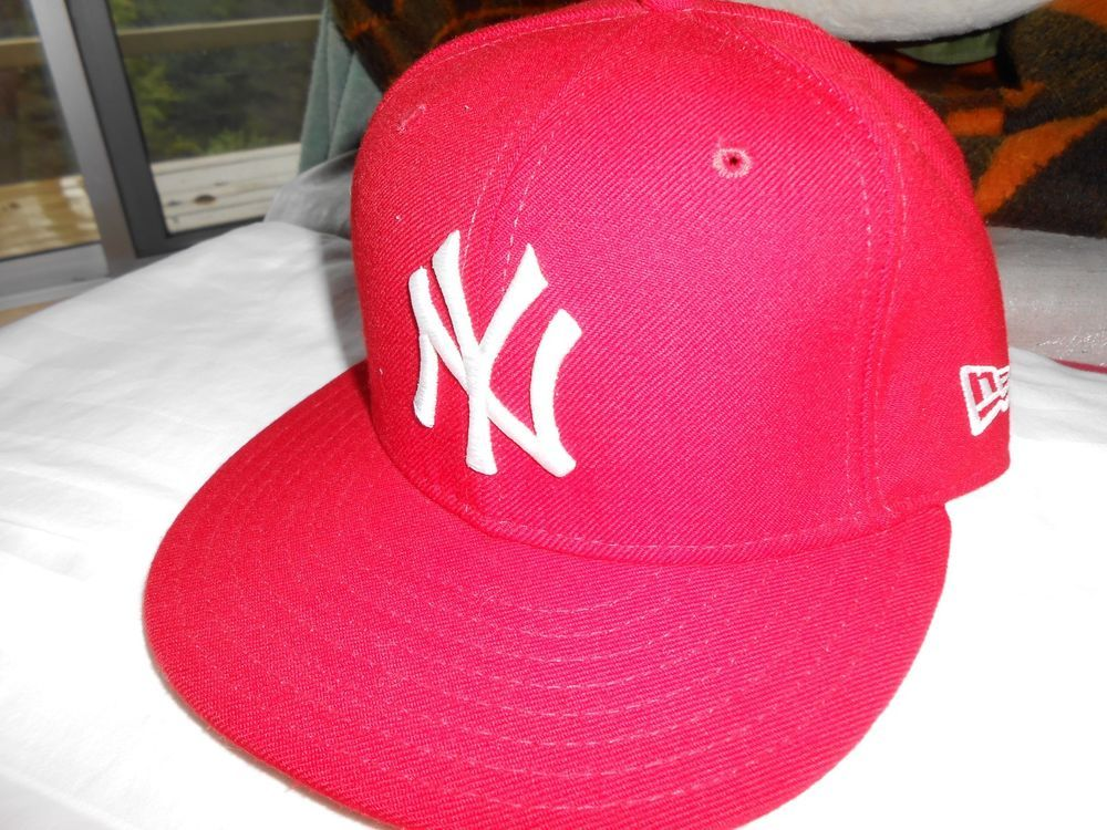 880c9e8525d New Era- NY YANKEES RED ON WHITE Cap MLB Baseball Fitted 6 7 8 55 cm   fashion  clothing  shoes  accessories  mensaccessories  hats (ebay link)