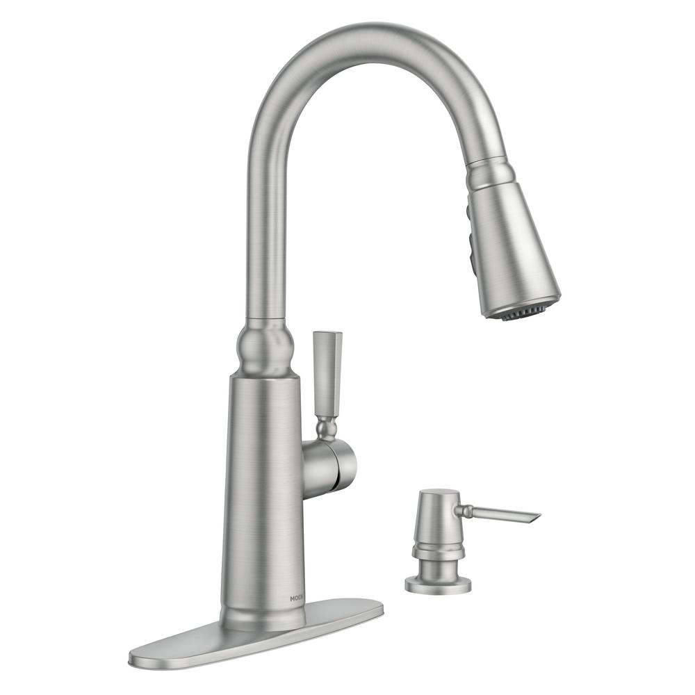 Moen Coretta Single Handle Pull Down Sprayer Kitchen Faucet With