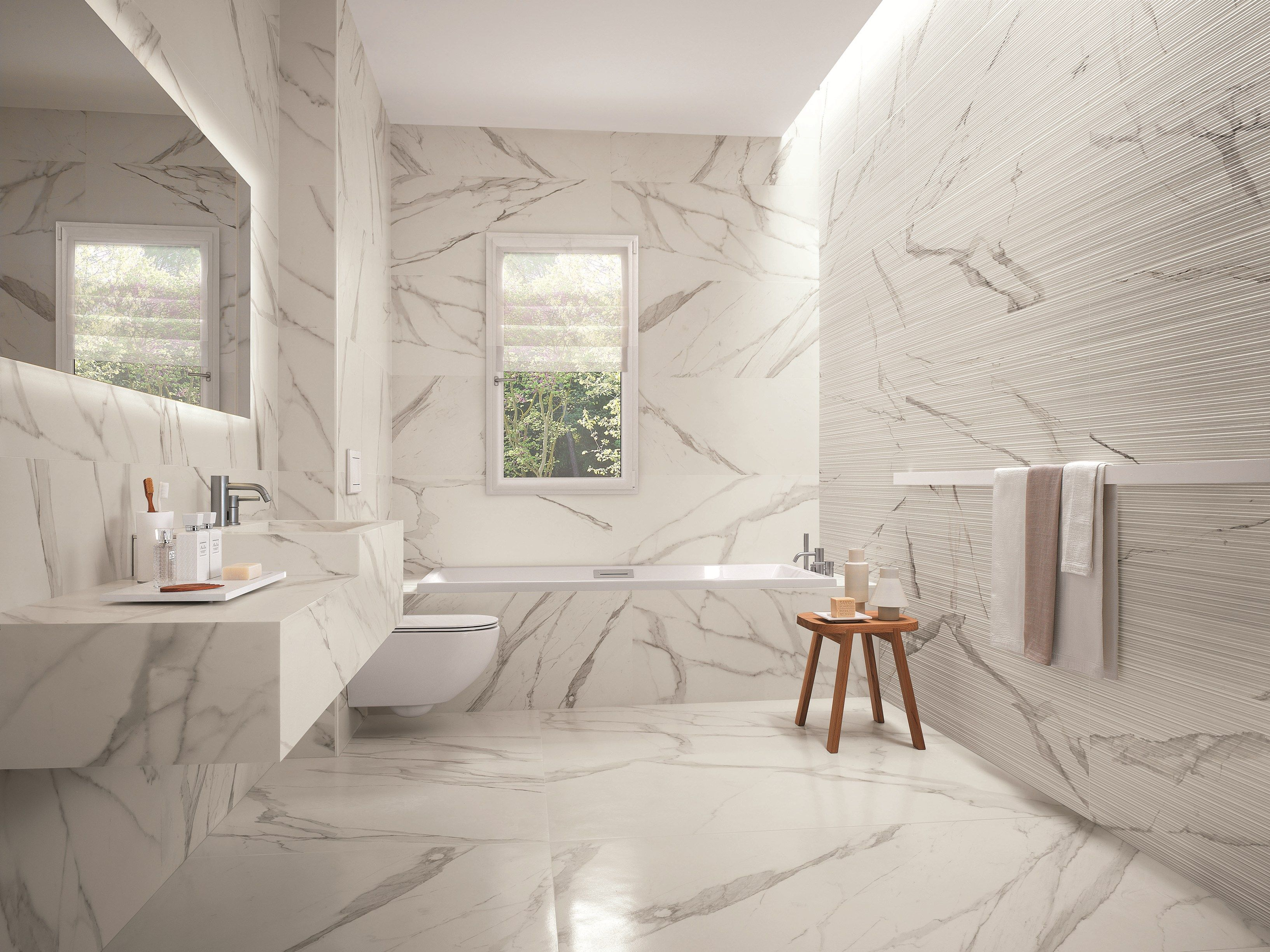 Porcelain stoneware wall tiles flooring roma by fap ceramiche
