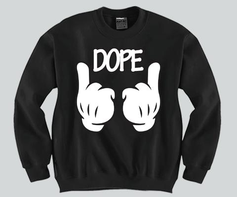 Future clothes · DOPE Mickey Mouse hands Unisex Crewneck – DA LEO'S Custom  Shirts