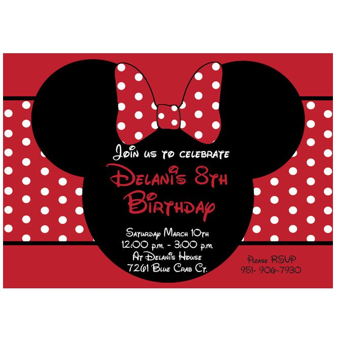 minnie mouse party supplies red and black – Red Party Invitations