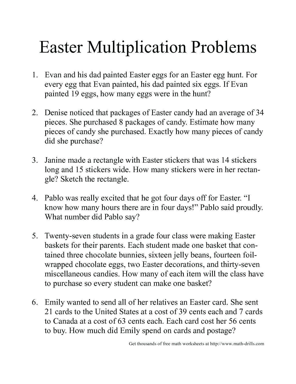 7 Estimation Word Problems Worksheets In