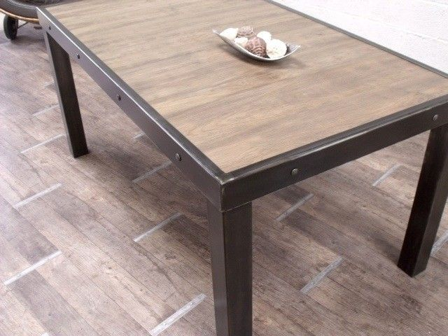 table bois metal - recherche google   salle à manger   pinterest