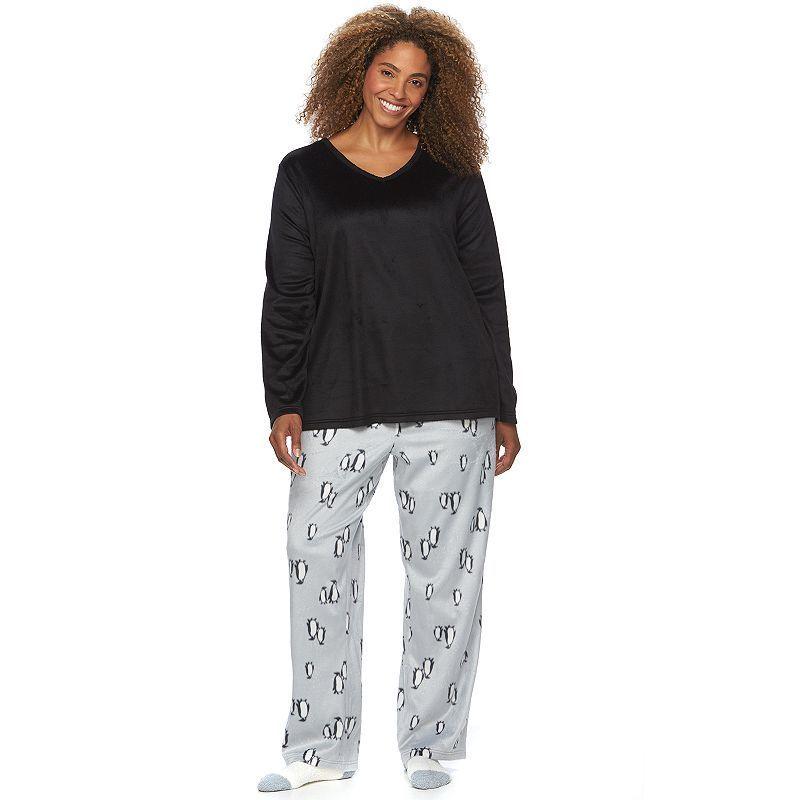 Plus Size Croft & Barrow® Pajamas: Soft & Cozy PJ Gift Set with Socks, Women's, Size: